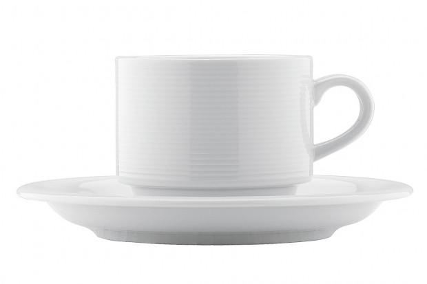 Комплект Чаша с чинийка за чай 250 ml REY