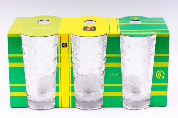 Чаша за вода 260 ml 6бр 51151  SPIRAL