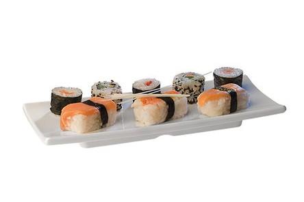 Плато за суши меламин 24x10.5 cm бяло 84980 APS