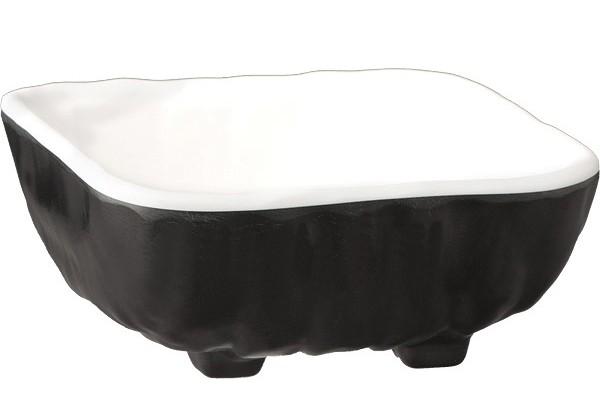 Купа меламин черно и бяло 14.5х14.5 cm 84129 APS