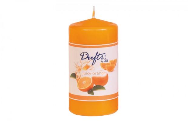 Свещ цилиндър портокал 110х58 mm+/ 30h 213 235013 25 DUFTI