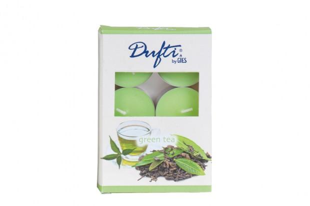 Свещ чаена 6бр. зелен чай 38 mm +/ 4h 213 421048 61 DUFTI