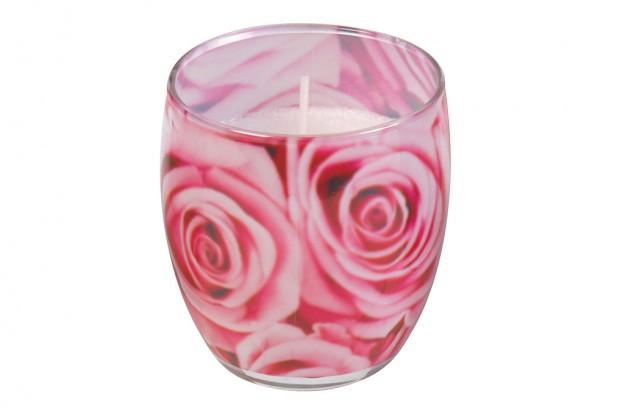 Чаша стеарин 80х70 mm  роза +/ 25h 213 611154 38 DUFTI