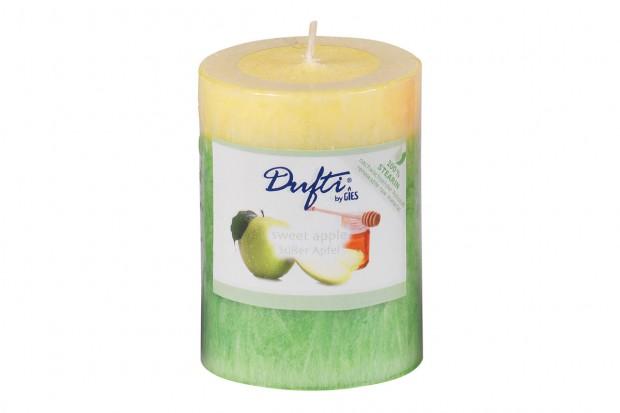 Свещ цилиндър сладка ябълка 90х68 mm  213 244007 62 DUFTI