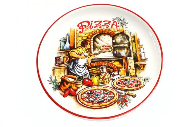 Плато за пица 30см м.2949 GL.010, декор Пица CESIRO