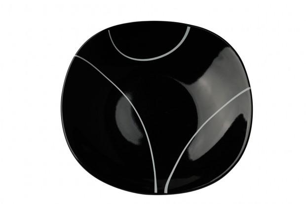 Чиния дълбока 21 cm м.3093 G604+s.l. черна, черти 1 CESIRO