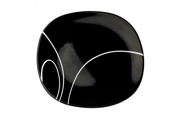 Чиния десерт 19 cm м.3093 G604+s.l. черна, черти 1бр CESIRO.