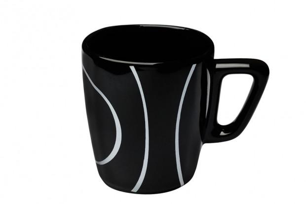 Чаша мляко 250 ml м.3111 G604+s.l. черна, черти 1 CESIRO