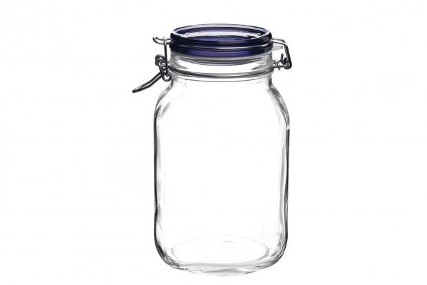 Буркан с капак с херметично затваряне 1000 ml Fido Blue