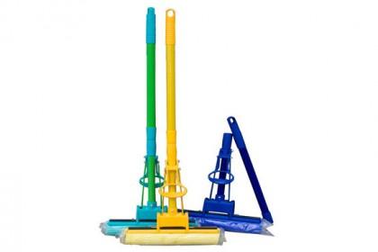 Гъба моп единичен изстискващ механизъм 4 цвята