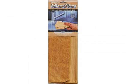 Микрофибърна кърпа 40х40 cm двустранна кафява MC 060 / SS57(SC74)