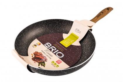 Тиган BRIO Mocca - Marble Edition индукционен 28 cm