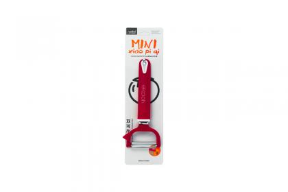 Белачка с пластмасова дръжка - червена - хоризонтален нож