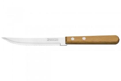 Нож за стек с дръвена дръжка, комплект 12 бр.  Блистер