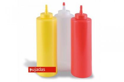 Пластмасова бутилка за сос червена 360 ml 868002 PUJADAS