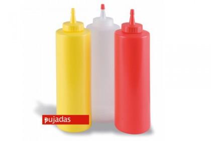 Пластмасова бутилка за сос червена 720 ml