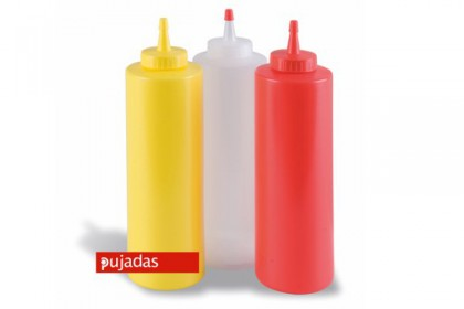 Пластмасова бутилка за сос жълта 240 ml 868004 PUJADAS