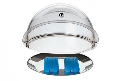 Кръгъл поднос с основа за Roll Top студ.сервиране,без капак+2 бр.охладител