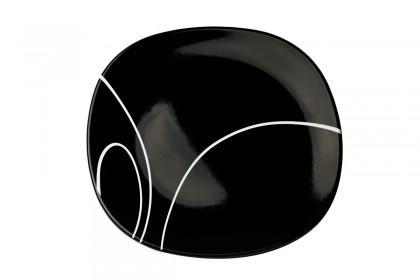 Чиния плитка 24 cm м.3093 G604+s.l. черна, черти 1 CESIRO