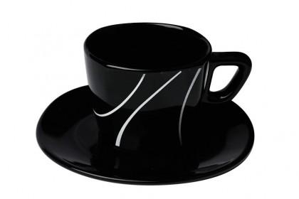 К-т чай 200 ml м.3093 G604+s.l. черен, черти CESIRO