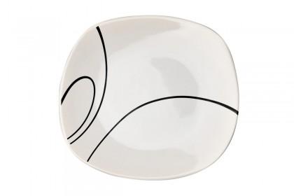 Чиния десерт 19 cm м.3093 G010+s.l. бяло, черти 1 CESIRO