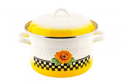 Тенджера декор жълт слънчоглед 18 cm EMAILUL