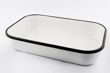 Тава правоъгълна 40 cm бяла EMAILUL