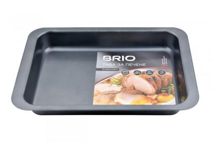 Тава за печене, карбонова стомана, незал.покритие BRIO